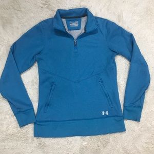 Under Armour Semi-Fitted Coldgear 1/4 Zip sz Small